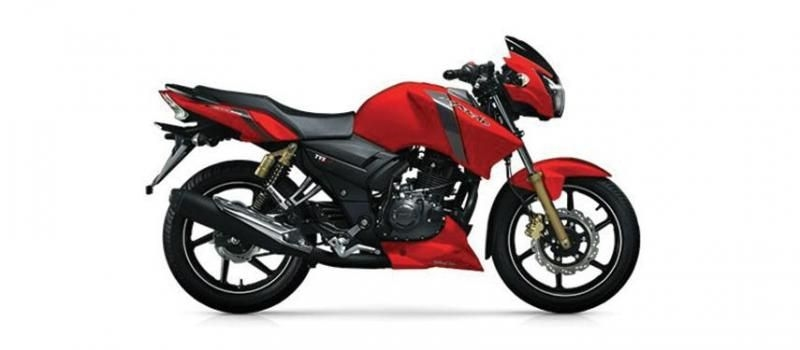 TVS Apache RTR 160cc Single Disc Matt Red 2019