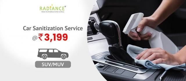 Car Sanitization Service - SUV/MUV - Radiance Space Solutions